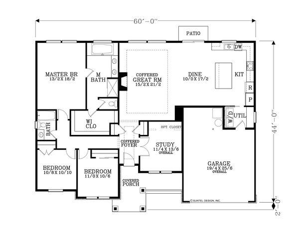 Home Plan - Craftsman Floor Plan - Main Floor Plan #53-591