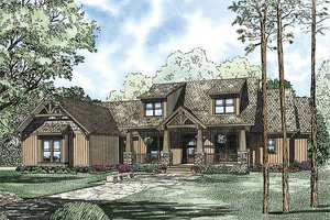 Craftsman Exterior - Front Elevation Plan #17-2376