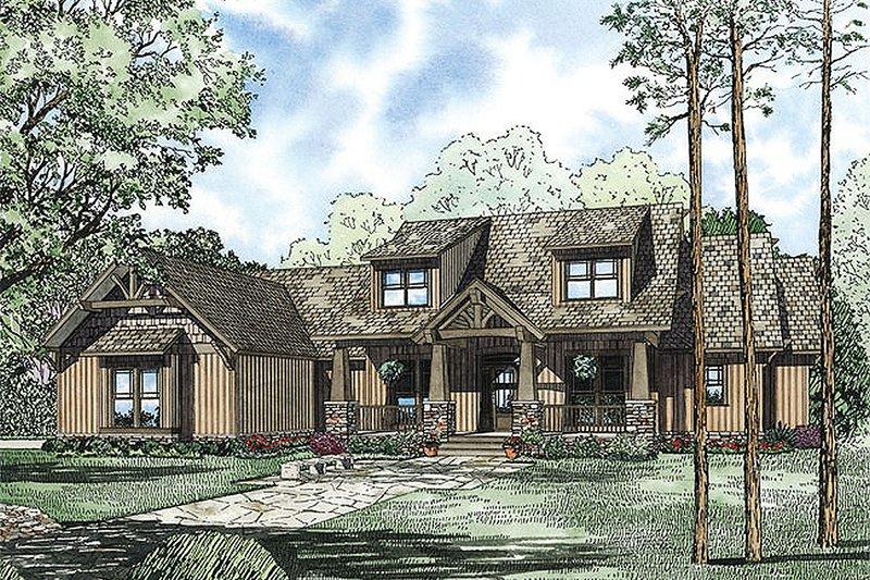 Architectural House Design - Craftsman Exterior - Front Elevation Plan #17-2376