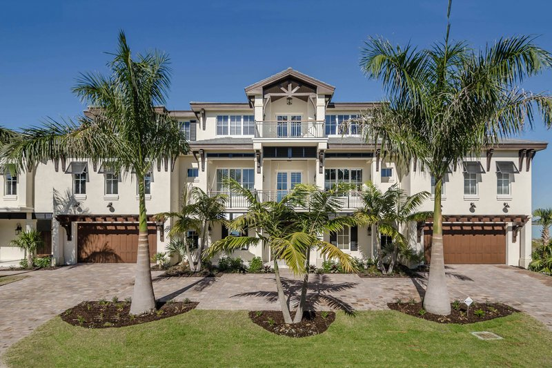 Beach Style House Plan - 4 Beds 4.5 Baths 12570 Sq/Ft Plan #27-546 Exterior - Front Elevation