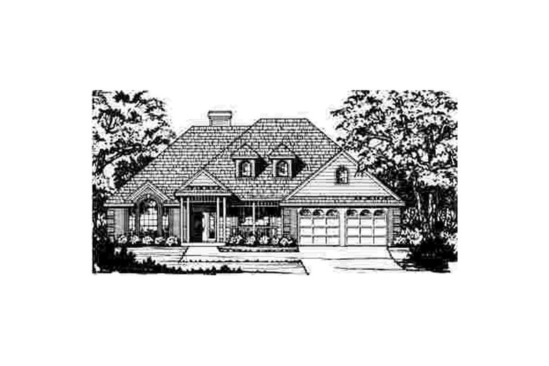 Traditional Exterior - Front Elevation Plan #40-175 - Houseplans.com