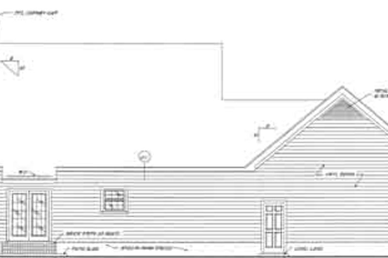 Country Exterior - Rear Elevation Plan #37-142 - Houseplans.com