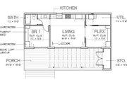 Modern Style House Plan - 1 Beds 1 Baths 640 Sq/Ft Plan #449-14 Floor Plan - Main Floor