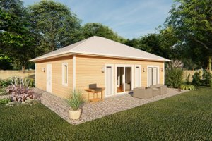 Contemporary Exterior - Front Elevation Plan #126-177