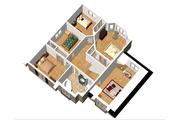 European Style House Plan - 4 Beds 1 Baths 2048 Sq/Ft Plan #25-4712 Floor Plan - Upper Floor Plan