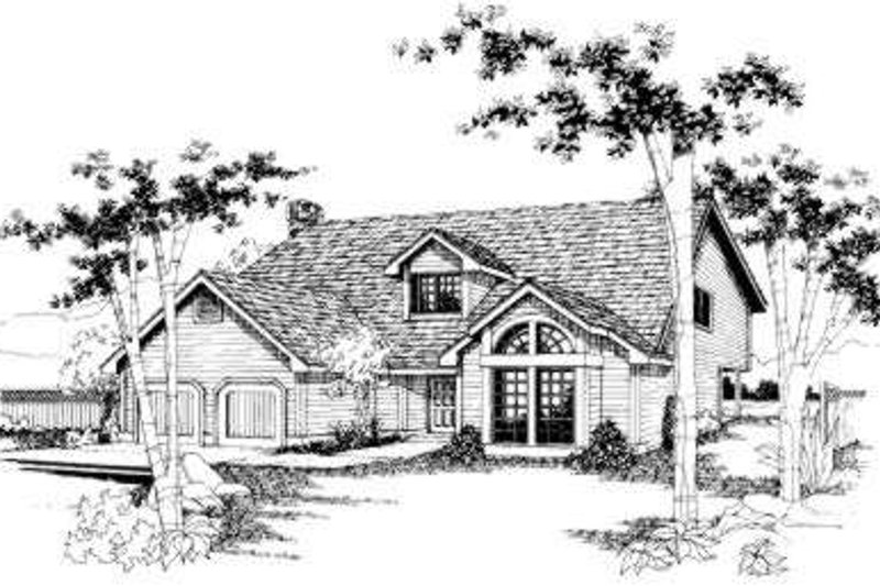 Traditional Style House Plan - 3 Beds 2.5 Baths 1888 Sq/Ft Plan #303-113 Exterior - Front Elevation