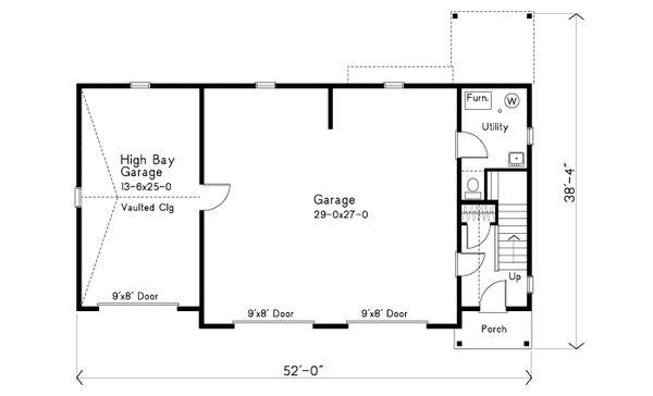 Dream House Plan - Craftsman Floor Plan - Main Floor Plan #22-627