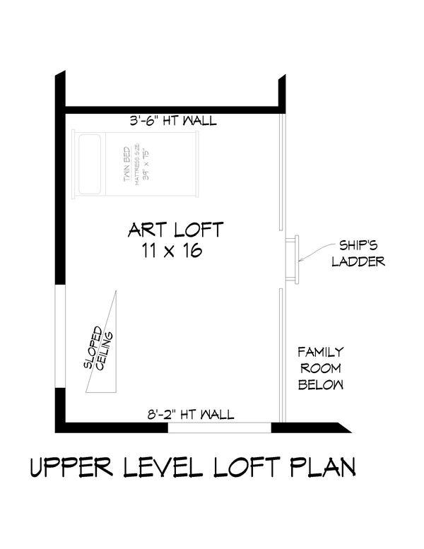 Modern Floor Plan - Upper Floor Plan #932-42