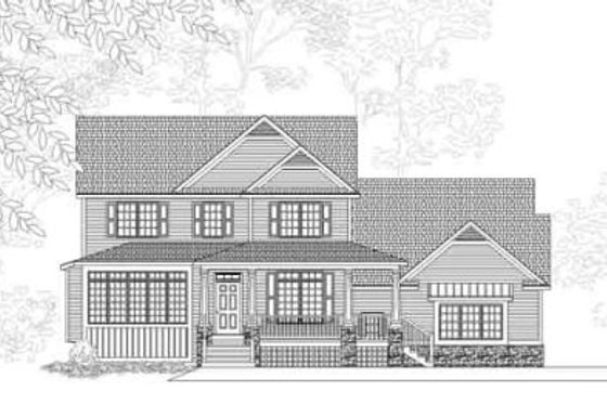 Country Exterior - Front Elevation Plan #49-204
