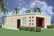 Modern Style House Plan - 3 Beds 1 Baths 974 Sq/Ft Plan #495-3 Exterior - Rear Elevation