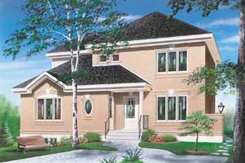 Home Plan - Exterior - Front Elevation Plan #23-504
