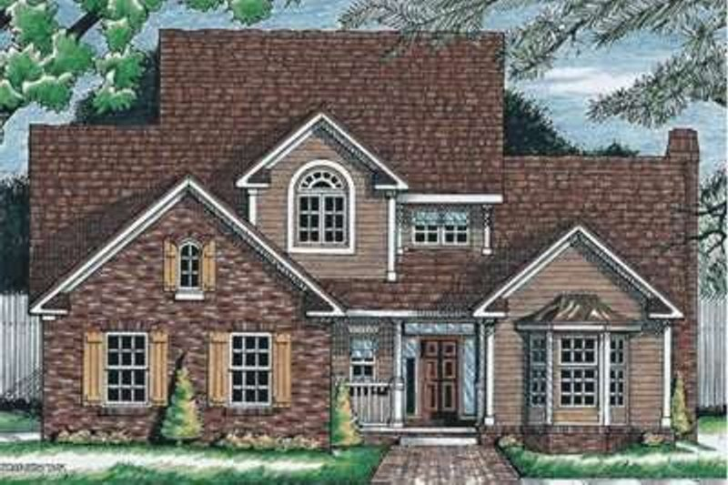 Traditional Exterior - Front Elevation Plan #20-1572 - Houseplans.com