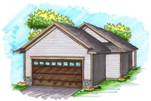 House Design - Ranch Exterior - Rear Elevation Plan #70-1022