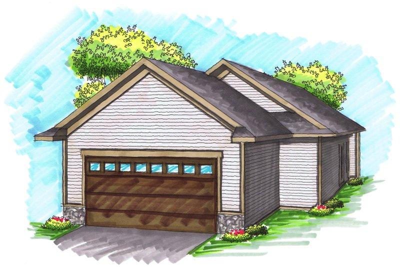 Ranch Exterior - Rear Elevation Plan #70-1022 - Houseplans.com