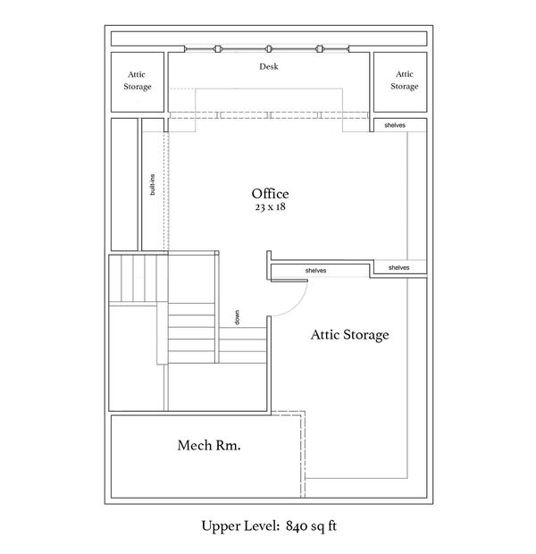 Craftsman Floor Plan - Upper Floor Plan Plan #454-14