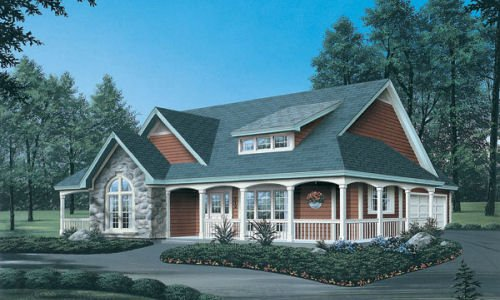 Farmhouse Exterior - Front Elevation Plan #57-178 - Houseplans.com