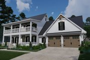 Southern Style House Plan - 3 Beds 2.5 Baths 2458 Sq/Ft Plan #120-260 Exterior - Front Elevation