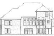 European Style House Plan - 4 Beds 4 Baths 3687 Sq/Ft Plan #31-109 Exterior - Rear Elevation