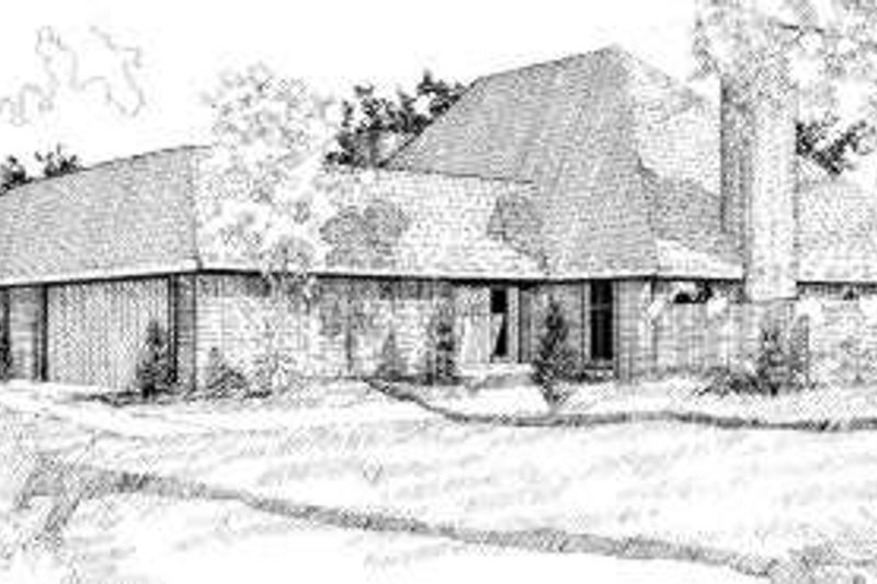 House Plan - 3 Beds 4 Baths 3434 Sq/Ft Plan #310-103 Exterior - Front Elevation