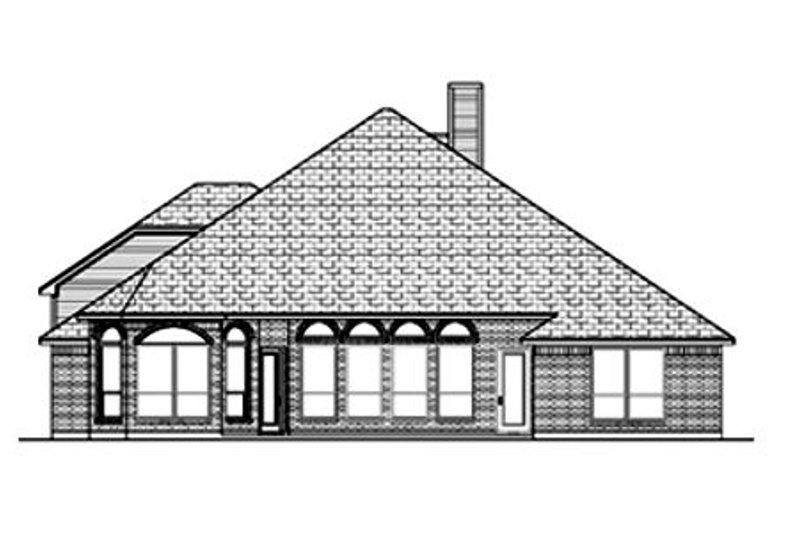 Traditional Exterior - Rear Elevation Plan #84-376 - Houseplans.com