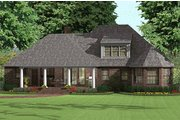 Southern Style House Plan - 3 Beds 2.5 Baths 2170 Sq/Ft Plan #406-143 Exterior - Rear Elevation