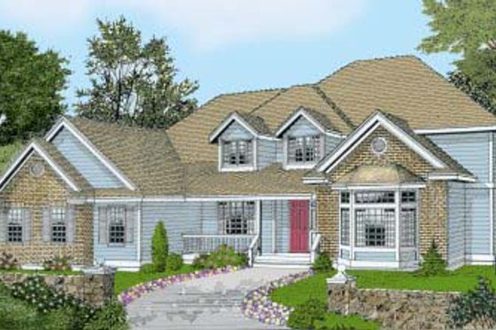 Traditional Exterior - Front Elevation Plan #102-205