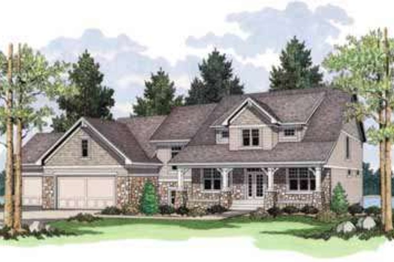 Farmhouse Style House Plan - 4 Beds 2.5 Baths 2982 Sq/Ft Plan #51-204 Exterior - Front Elevation