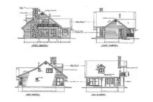 Cottage Exterior - Rear Elevation Plan #47-101