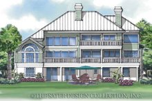 Home Plan Design - Country Exterior - Rear Elevation Plan #930-33
