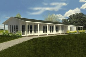Ranch Exterior - Front Elevation Plan #888-6