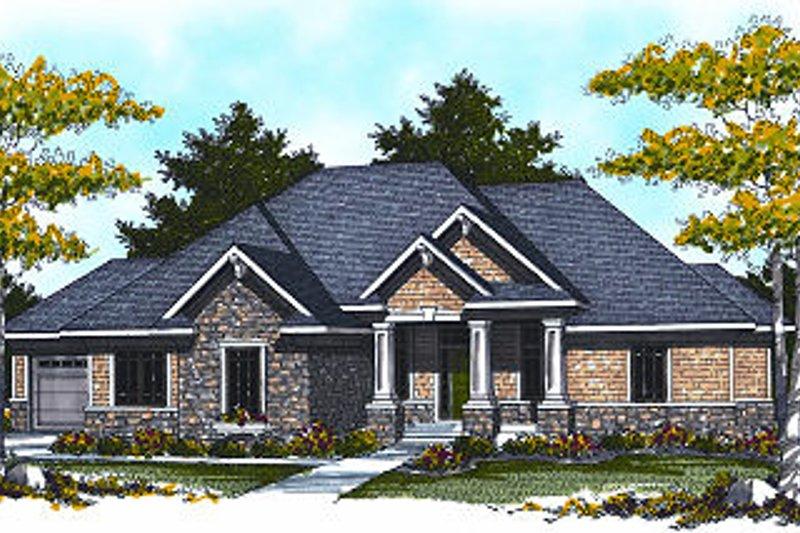 Dream House Plan - European Exterior - Front Elevation Plan #70-885