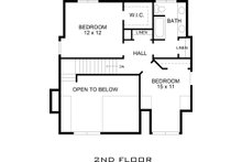 Upper Level Floor Plan - 1500 square foot Country home