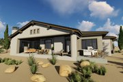 Adobe / Southwestern Style House Plan - 3 Beds 3 Baths 2982 Sq/Ft Plan #1069-16 Exterior - Rear Elevation