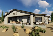 Home Plan - Adobe / Southwestern Exterior - Rear Elevation Plan #1069-16