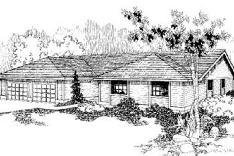 Ranch Exterior - Front Elevation Plan #60-370