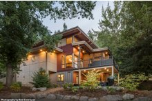 Architectural House Design - Contemporary Exterior - Rear Elevation Plan #48-656