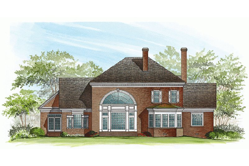 Southern Exterior - Rear Elevation Plan #137-195 - Houseplans.com