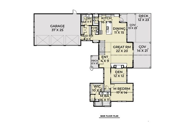 Dream House Plan - Contemporary Floor Plan - Main Floor Plan #1070-88