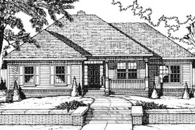 Traditional Exterior - Front Elevation Plan #20-621 - Houseplans.com