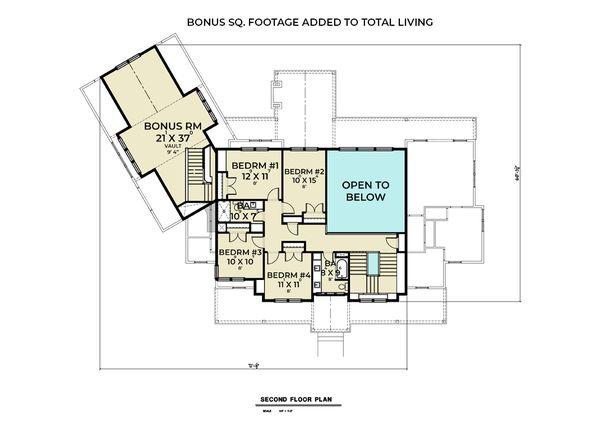 Architectural House Design - Farmhouse Floor Plan - Upper Floor Plan #1070-135