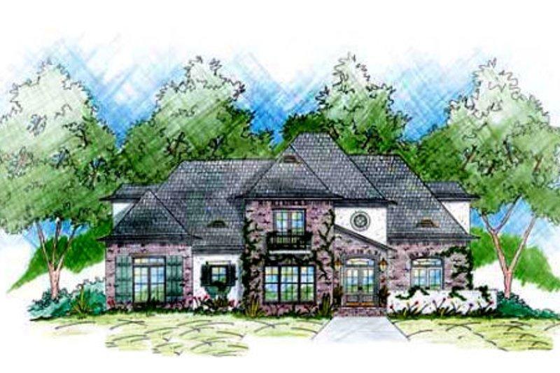 House Plan Design - European Exterior - Front Elevation Plan #36-446