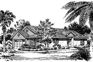 Mediterranean Exterior - Front Elevation Plan #417-116