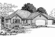 Traditional Style House Plan - 2 Beds 2 Baths 2238 Sq/Ft Plan #70-350 Exterior - Front Elevation
