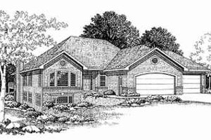 Traditional Exterior - Front Elevation Plan #70-350