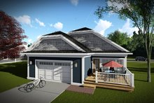 Cottage Exterior - Rear Elevation Plan #70-1460