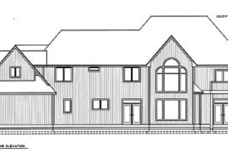 European Exterior - Rear Elevation Plan #97-212 - Houseplans.com