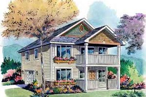 Craftsman Exterior - Front Elevation Plan #18-320