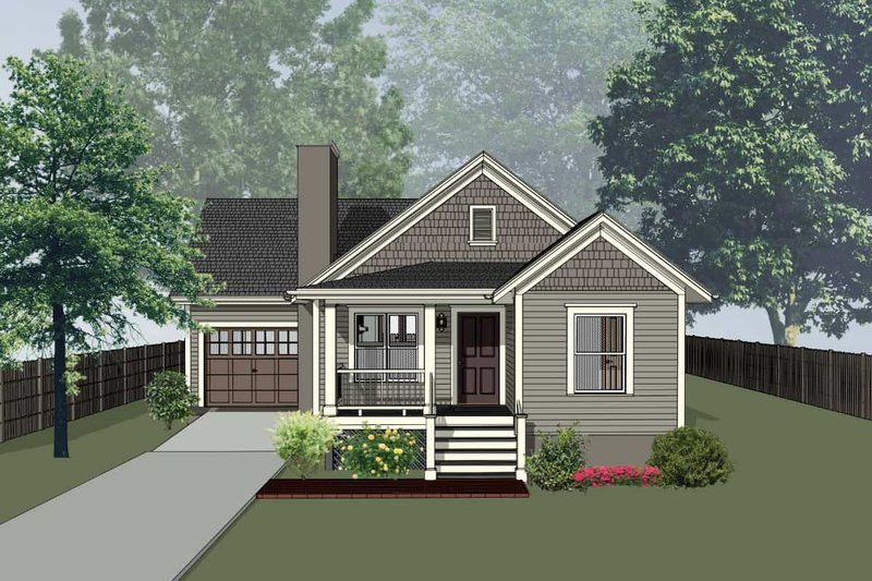 House Plan Design - Bungalow Exterior - Front Elevation Plan #79-310