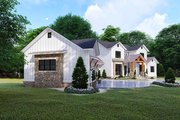 Farmhouse Style House Plan - 6 Beds 5.5 Baths 6301 Sq/Ft Plan #923-119 Exterior - Other Elevation