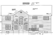 Classical Style House Plan - 4 Beds 3.5 Baths 3674 Sq/Ft Plan #3-268 Exterior - Rear Elevation